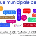 La bibliothèque municipale de Vertheuil ouvre pendant les vacances de Printemps