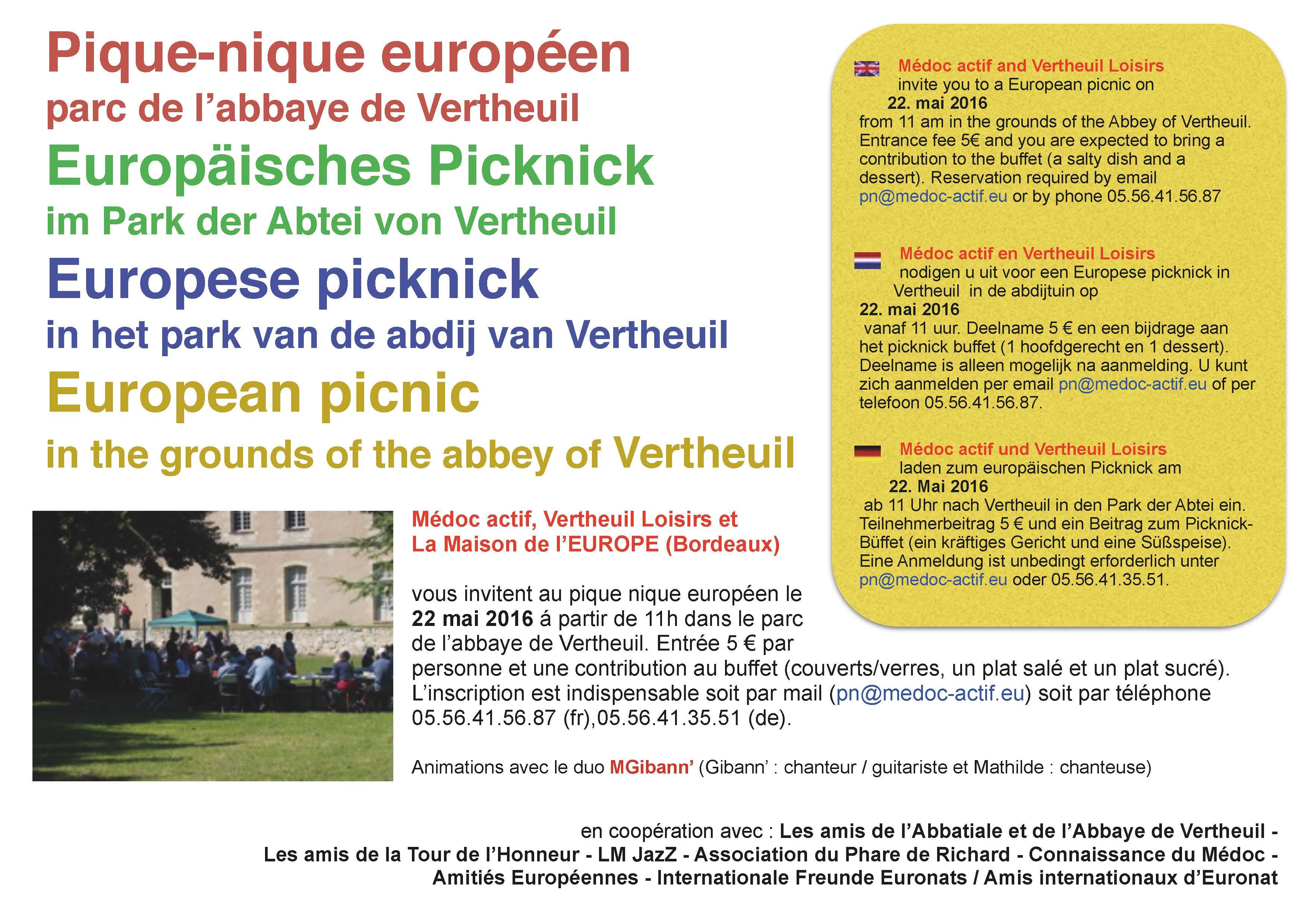 Pique nique europ en 2016 mairie de vertheuil - Lieux de pique nique en ile de france ...