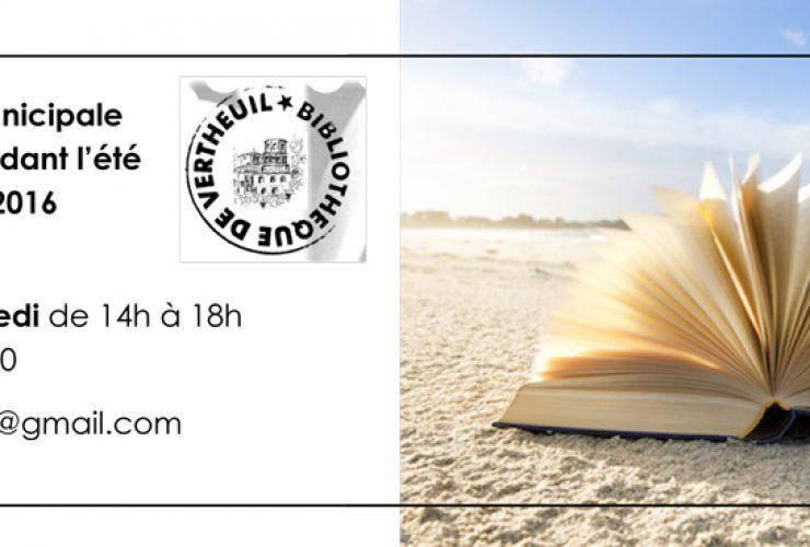 Bibliothèque : Horaires d'été