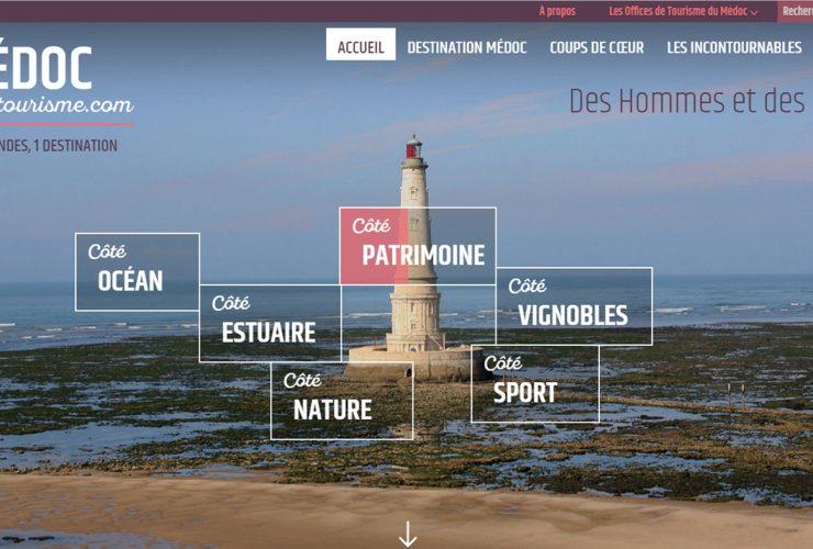 Nouveau site de l'Union touristique du Médoc