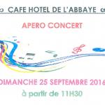 APERO CONCERT au CAFE HOTEL DE L'ABBAYE de Vertheuil
