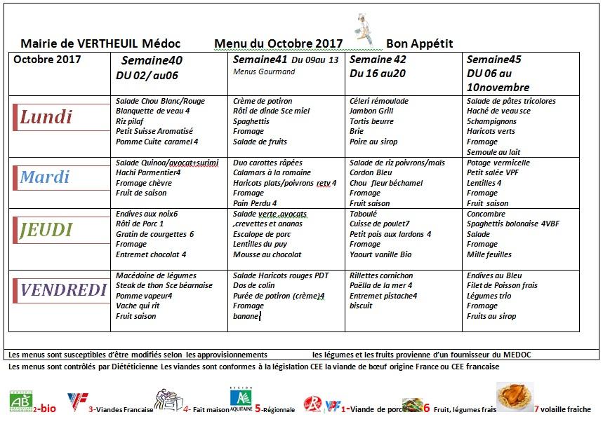 menus semaine du goût