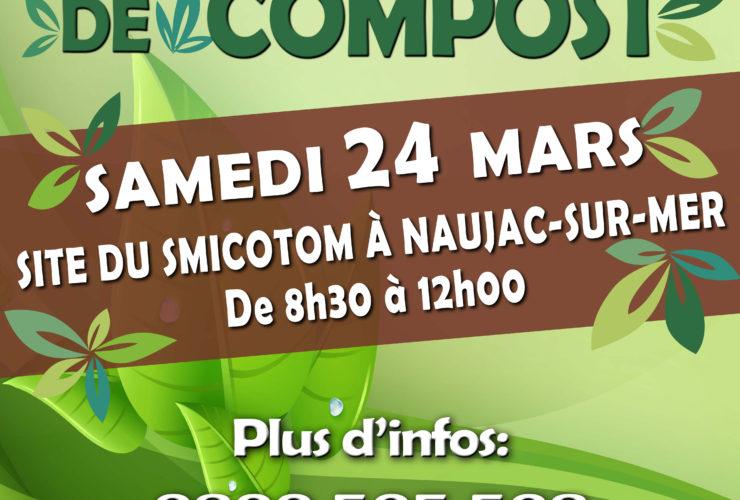 Distribution gratuite de compost samedi 24 mars à Naujac