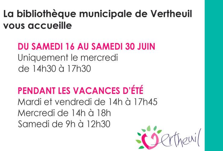 La bibliothèque municipale de Vertheuil vous accueille