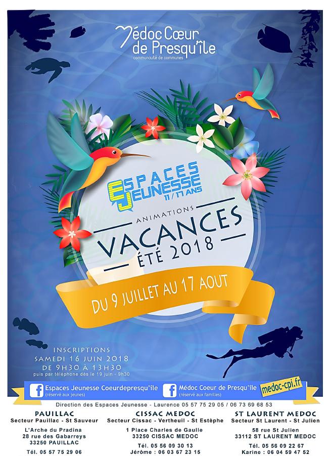 Espaces Jeunesse programme des vacances