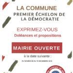 «La commune, premier échelon de la démocratie : du 8 au 15 décembre 2018