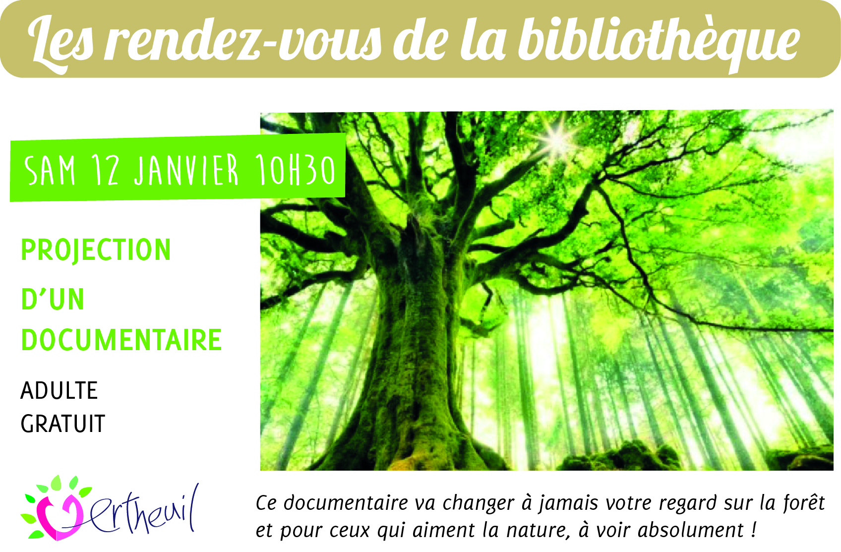 Projection d'un documentaire à la bibliothèque