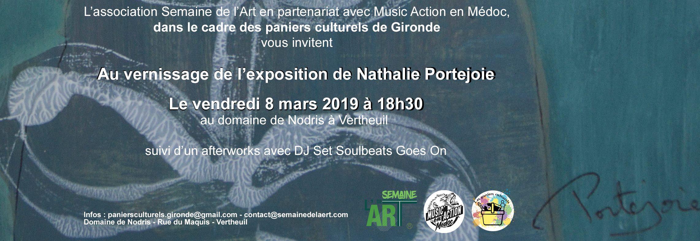 Vernissage exposition Nathalie Portejoie