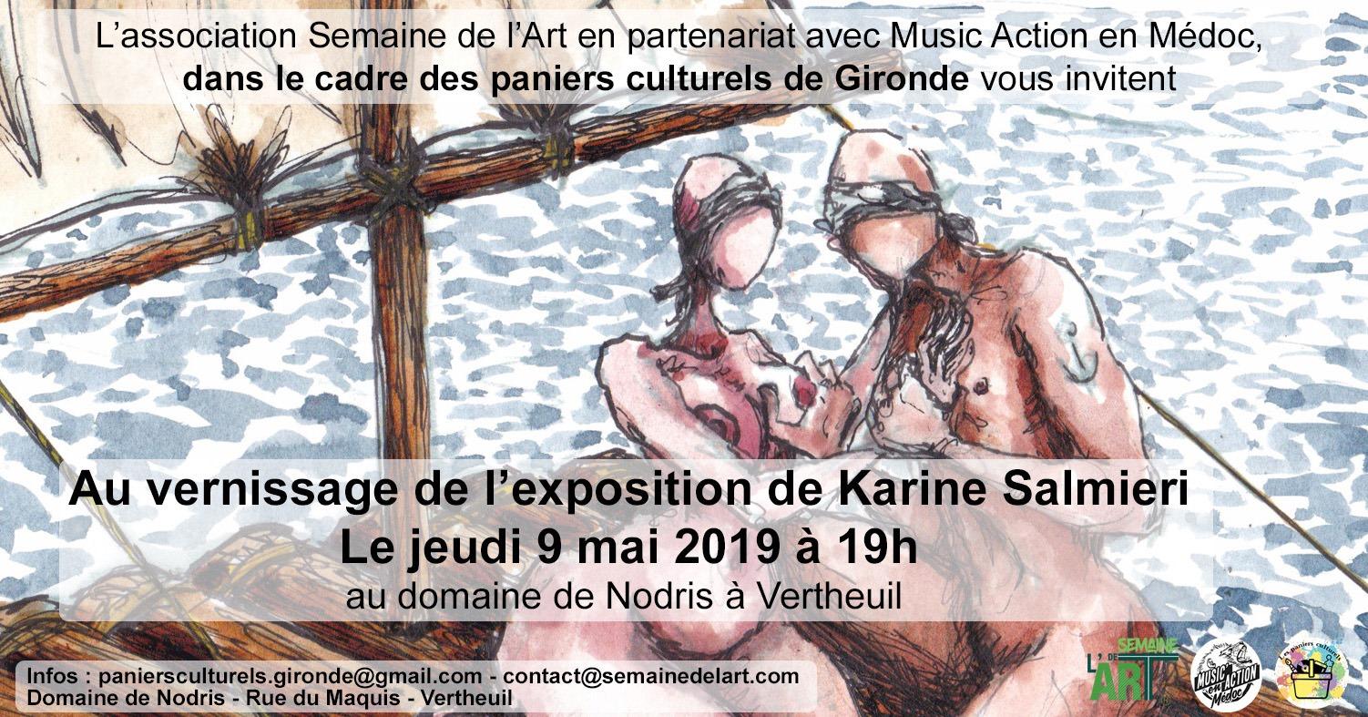 Vernissage expo Domaine de Nodris jeudi 9 mai à 19h