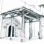 Restauration du porche de l'abbatiale de Vertheuil