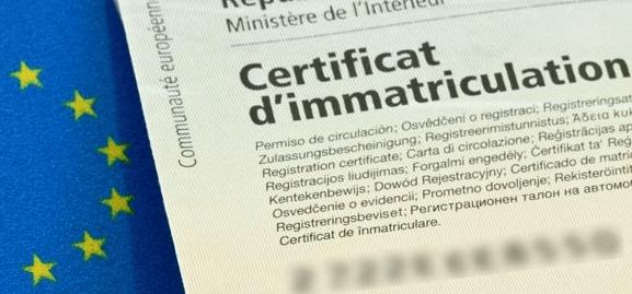 proc dures concernant le certificat d immatriculation