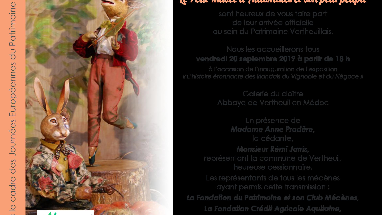 Arrivée officielle du Petit Musée des Automates dans le Patrimoine Vertheuillais